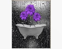 Purple And Gray Bathroom - purple home decor etsy