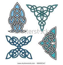 set 4 celtic ornamental designs stock vector 1361612