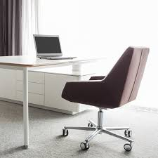 Wooden Office Chairs With Casters Contemporary Office Chair With Armrests On Casters Swivel
