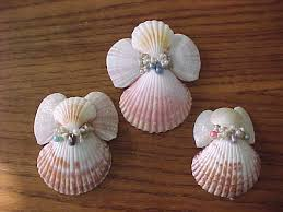 shell ornaments the setting hen and