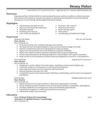 Good Resume Objective Examples Resume Hair Stylist Resume For Your Job Application