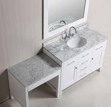 Single Bathroom Vanity With Sink Single Bathroom Vanity With Makeup Area Bathroom Vanity