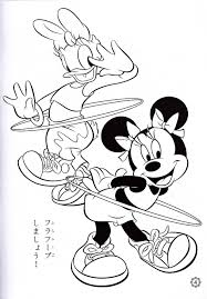 minnie daisy coloring pages coloring