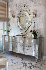 Venetian Mirror Bathroom by Statuary Marble Countertop Contemporary Bathroom