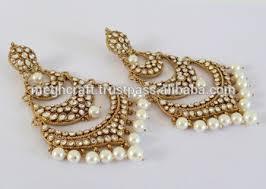 pearl chandelier earrings 2015 punjabi chandelier earrings wholesale kundan