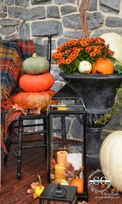 Fall Decorated Porches - fall on the front porch stonegable