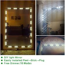 fry s led light strips 20 led lights strip kit for cosmetic makeup vanity mirror remote