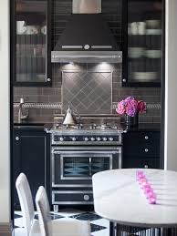 black white kitchen 9 kitchen color ideas that aren u0027t white hgtv u0027s decorating