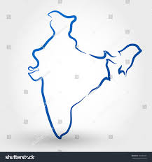 Blank Map Of India by Map India Map Concept Stock Vector 128133530 Shutterstock