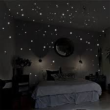 glow in the dark bedroom glow in the dark star wall stickers 2 sheets round dot luminous