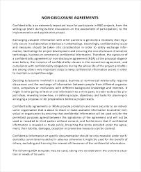 simple non disclosure agreement form u2013 12 free word pdf