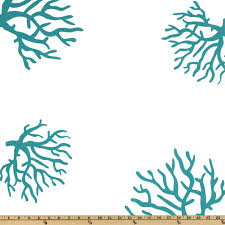 Coral And Turquoise Curtains Fabric To Use As Curtain Doors For The Master Closet Premier