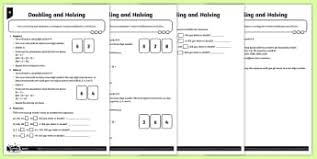 ks2 calculations doubling and halving primary page 1