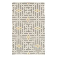 Brown And Beige Area Rug Modern Patterned Rugs