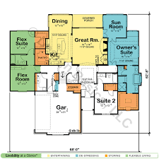 house plans in suite cozy design one story dual master house plans 4 plan 59638nd two