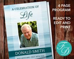 Where To Print Funeral Programs Funeral Program Template Order Of Service Memorial Program