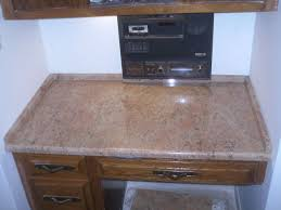 granite countertop french kitchen cabinet glass block backsplash