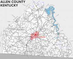 map of allen allen county kentucky kentucky atlas and gazetteer