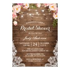 rustic bridal shower invitations rustic string lights lace floral bridal shower card zazzle