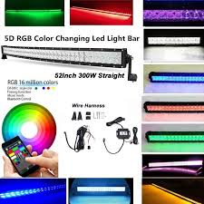 30 led light bar combo 20 30 40 50 inch rgb 5d projector lens combo led light bar with