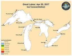 Michigan Zip Code Map Great Lakes Ice Analysis