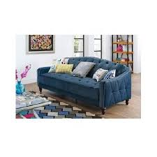 Tufted Sofa Sleeper by Retro Sofa Sleeper Modern Convertable Futon Bed Blue Tufted Velour