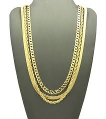 chain rope necklace images Hip hop herringbone cuban rope chains necklace set bling jewelz JPG