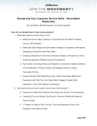 Resume Examples For Customer Service Skills by Sharpening Your Customer Service Skills Roundtable Responses Facil U2026