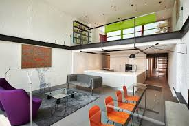contemporary row house with open concept living and entertainment