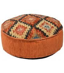 southwestern style square pouf ottoman