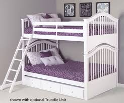 Jordan Full Size Bunk Bed White School House Jordan Double Bunk - Full over full bunk bed with trundle
