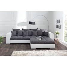 canapé design design valence blanc gris avec ottoman