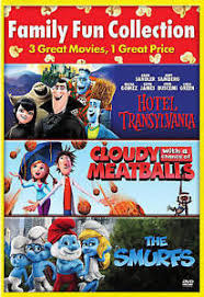 cloudy chance meatballs hotel transylvania smurfs