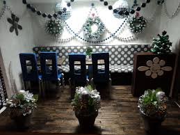 delightful restaurant decorated for christmas showcasing lovely