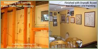 Basement Renovation - basement finishing renovation false wall framing drywall trim