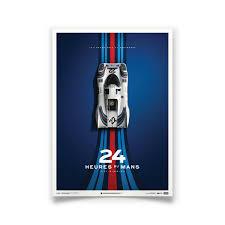porsche racing poster porsche 917 poster martini racing 24 hours of le mans