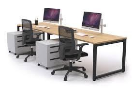 2 person desks litewall evolve 2 person office workstation desk run 1200l x 800w