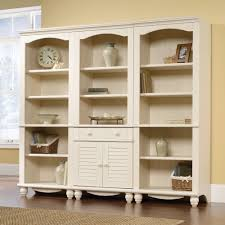 Sauder Harbor View Bookcase Sauder Harbor View Bookcase With Doors Antique White American Hwy
