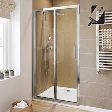 1000mm bi fold easyclean shower enclosure 6mm thick glass soak com