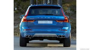volvo xc60 2018 volvo xc60 t6 r design color bursting blue rear hd