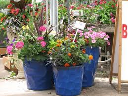 Front Porch Planter Ideas by Front Porch Attractive Front Porch Flower Pots Design With Blue