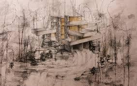 fallingwater house frank lloyd wright by didierch on deviantart
