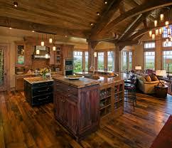 great room floor with open floor plan living room rustic and solid