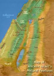 middle east map moses time map of the land of israel in testament times bible history