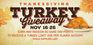 thanksgiving turkey giveaway crandon wisconsin mole lake casino