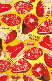 themed wrapping paper meat wrapping paper revivalrepublic illustrations