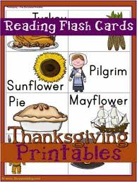 thanksgiving printables reading flash cards 3 boys and a
