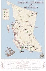 7 Kingdoms Map B C As Game Of Thrones U0027 Kingdoms Of Westeros Vancouver Is King U0027s