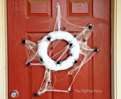spooky halloween spider web wreath the tiptoe fairy
