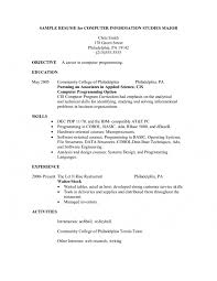 Resume Format Skills Resume Template For Restaurant Server Hostess Resume Skills